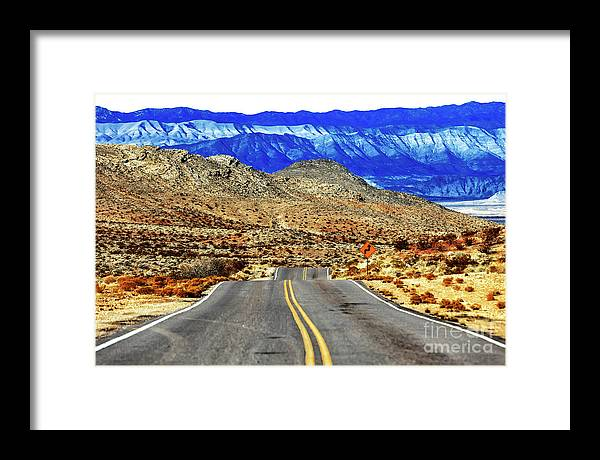 Into The Valley Of Fire Framed Print featuring the photograph Into the Valley of Fire Nevada by John Rizzuto