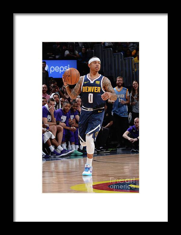 Nba Pro Basketball Framed Print featuring the photograph Isaiah Thomas by Bart Young