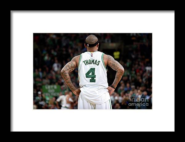 Nba Pro Basketball Framed Print featuring the photograph Isaiah Thomas by Brian Babineau