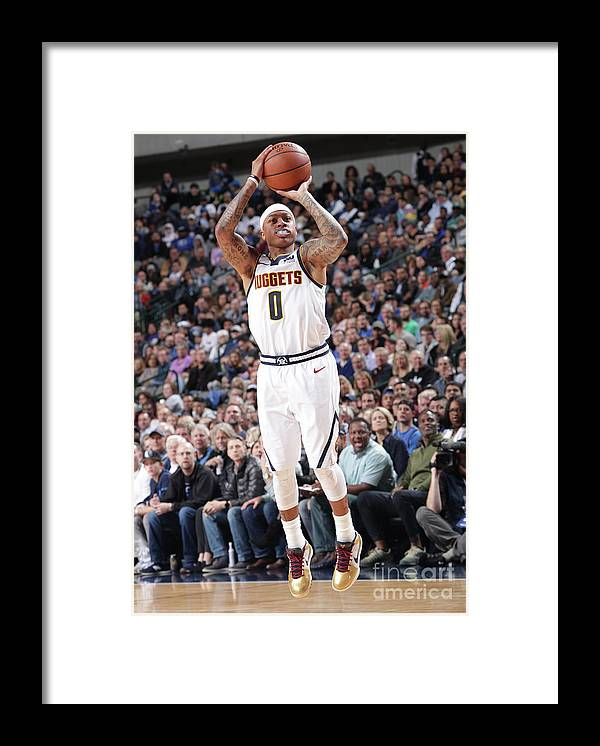 Nba Pro Basketball Framed Print featuring the photograph Isaiah Thomas by Glenn James
