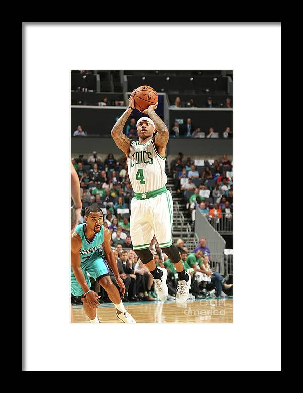 Nba Pro Basketball Framed Print featuring the photograph Isaiah Thomas by Kent Smith