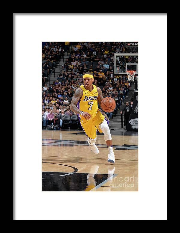 Nba Pro Basketball Framed Print featuring the photograph Isaiah Thomas by Mark Sobhani