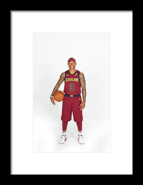Media Day Framed Print featuring the photograph Isaiah Thomas by Michael J. Lebrecht Ii