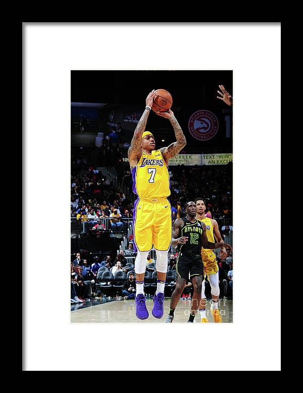 Atlanta Framed Print featuring the photograph Isaiah Thomas by Scott Cunningham