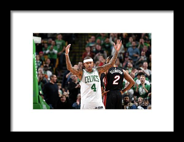 Nba Pro Basketball Framed Print featuring the photograph Isaiah Thomas by Steve Babineau