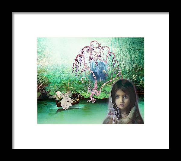 Fairy Framed Print featuring the digital art Isla and the Fairy by Laura Botsford
