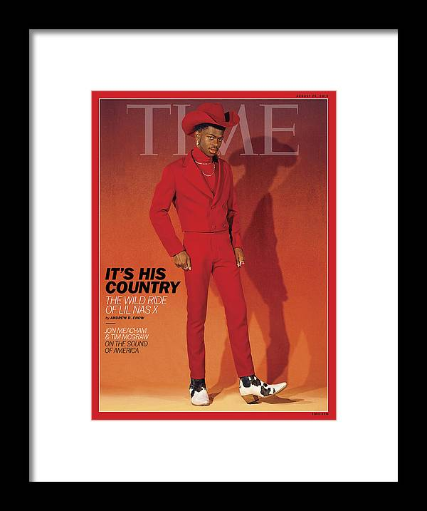 Music Framed Print featuring the photograph It's His Country - Lil Nas X by Photograph by Kelia Anne for TIME
