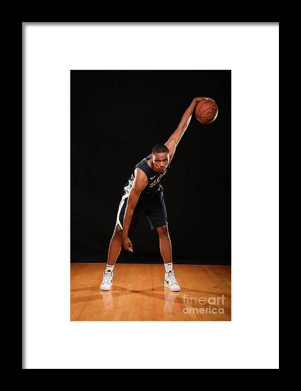 Nba Pro Basketball Framed Print featuring the photograph Ivan Rabb by Brian Babineau