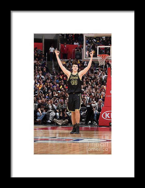 Nba Pro Basketball Framed Print featuring the photograph Ivica Zubac by Adam Pantozzi