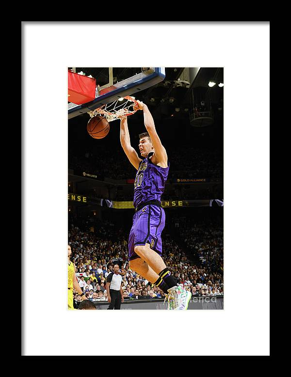 Nba Pro Basketball Framed Print featuring the photograph Ivica Zubac by Noah Graham