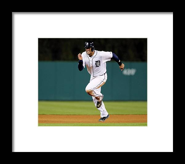 Baseball Catcher Framed Print featuring the photograph J. D. Martinez by Duane Burleson