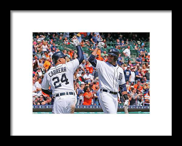 Three Quarter Length Framed Print featuring the photograph J. D. Martinez by Leon Halip