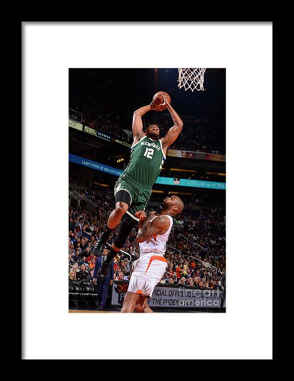 Nba Pro Basketball Framed Print featuring the photograph Jabari Parker by Barry Gossage