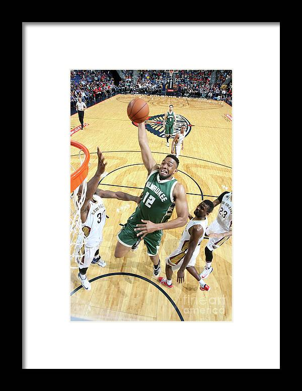 Smoothie King Center Framed Print featuring the photograph Jabari Parker by Layne Murdoch