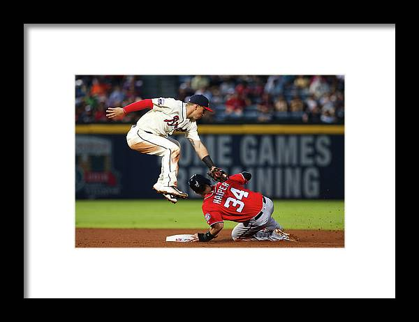 Atlanta Framed Print featuring the photograph Jace Peterson and Bryce Harper by Kevin Liles