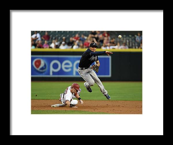 Double Play Framed Print featuring the photograph Jace Peterson and Chris Owings by Norm Hall
