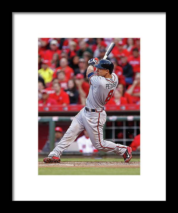 Great American Ball Park Framed Print featuring the photograph Jace Peterson by Michael Hickey