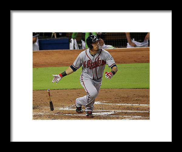 Second Inning Framed Print featuring the photograph Jace Peterson by Mike Ehrmann
