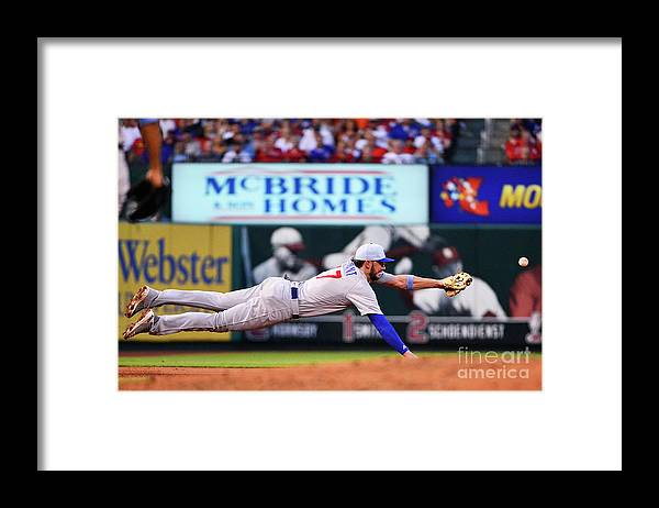 People Framed Print featuring the photograph Jack Flaherty and Kris Bryant by Jeff Curry