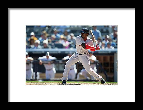 East Framed Print featuring the photograph Jackie Bradley by Rob Tringali