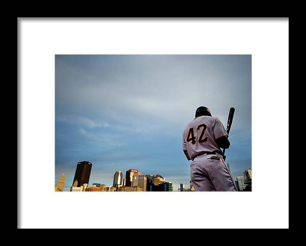 Second Inning Framed Print featuring the photograph Jackie Robinson by Jared Wickerham