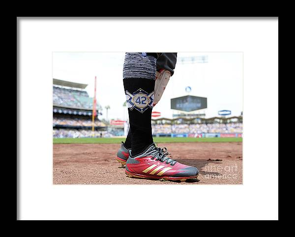 People Framed Print featuring the photograph Jackie Robinson by Kevork Djansezian