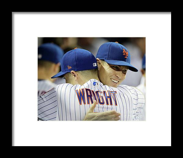 Jacob Degrom Framed Print featuring the photograph Jacob Degrom And David Wright by Elsa