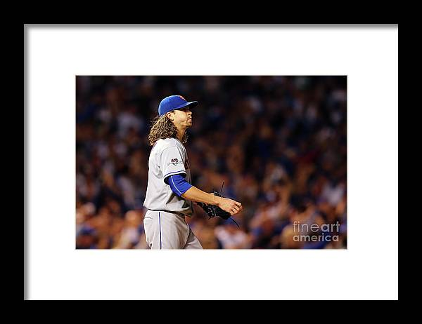 Jacob Degrom Framed Print featuring the photograph Jacob Degrom and Jorge Soler by Elsa