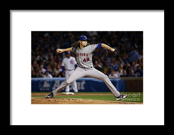 Jacob Degrom Framed Print featuring the photograph Jacob Degrom by Jonathan Daniel
