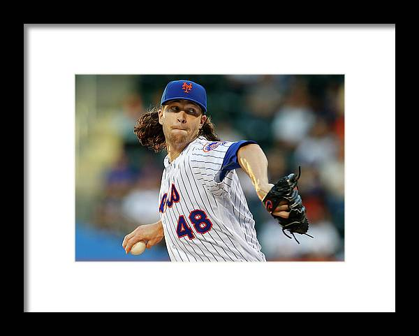 Jacob Degrom Framed Print featuring the photograph Jacob Degrom by Rich Schultz