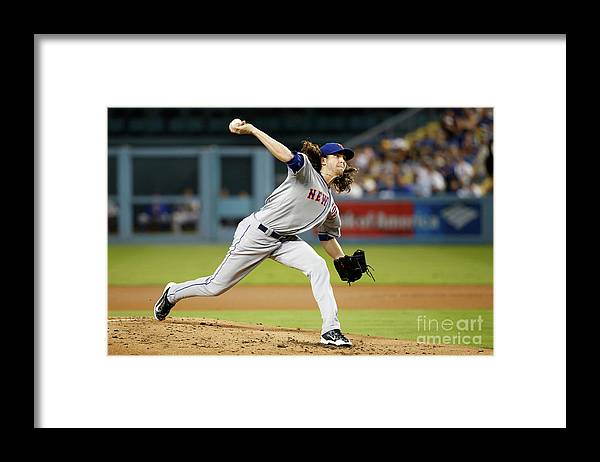 Jacob Degrom Framed Print featuring the photograph Jacob Degrom by Sean M. Haffey