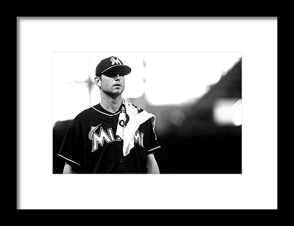 American League Baseball Framed Print featuring the photograph Jacob Turner by Mike Ehrmann