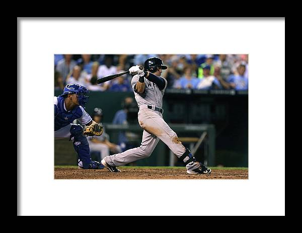 American League Baseball Framed Print featuring the photograph Jacoby Ellsbury by Ed Zurga