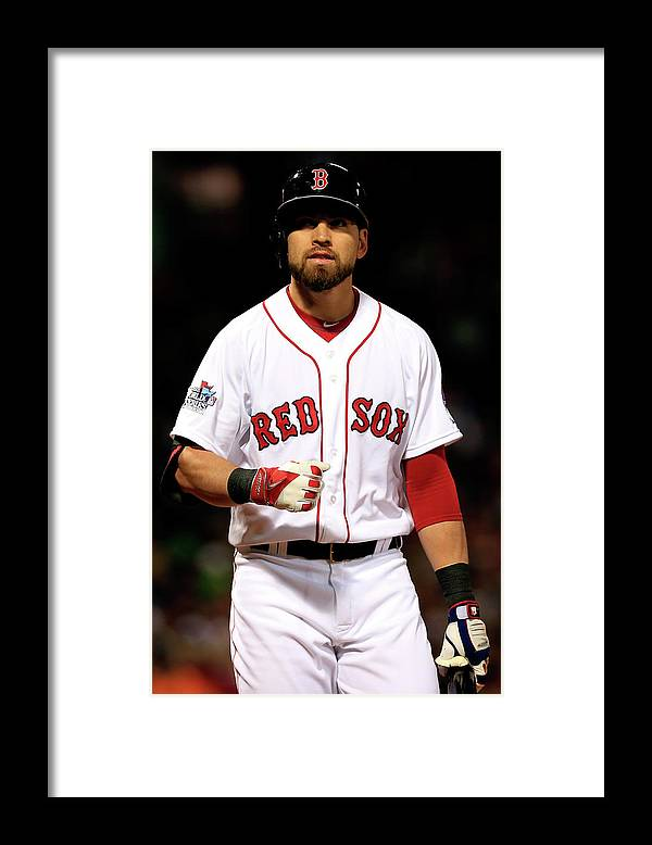 American League Baseball Framed Print featuring the photograph Jacoby Ellsbury by Jamie Squire