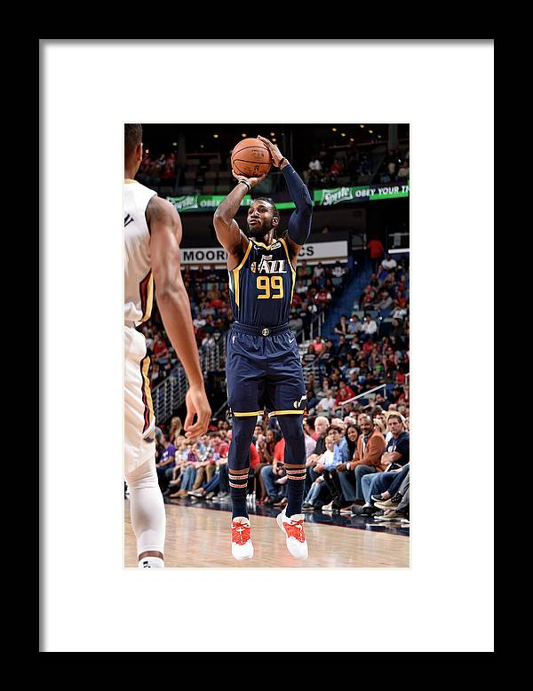Smoothie King Center Framed Print featuring the photograph Jae Crowder by Bill Baptist