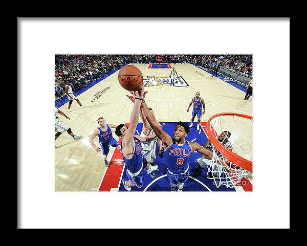 Nba Pro Basketball Framed Print featuring the photograph Jahlil Okafor and Ersan Ilyasova by Jesse D. Garrabrant