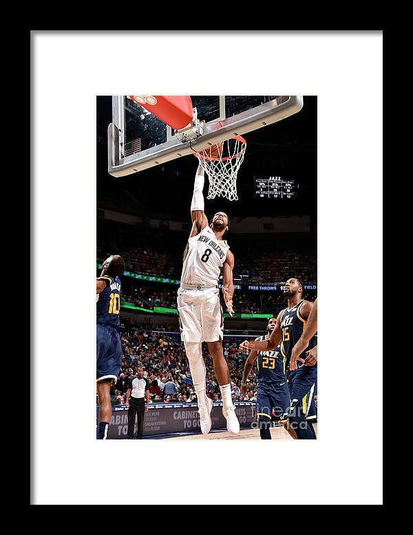 Smoothie King Center Framed Print featuring the photograph Jahlil Okafor by Bill Baptist
