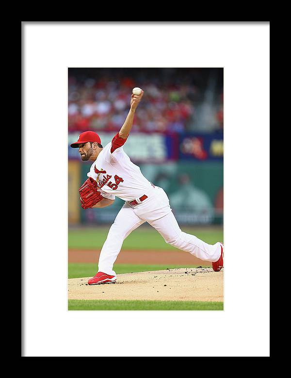 St. Louis Cardinals Framed Print featuring the photograph Jaime Garcia by Dilip Vishwanat