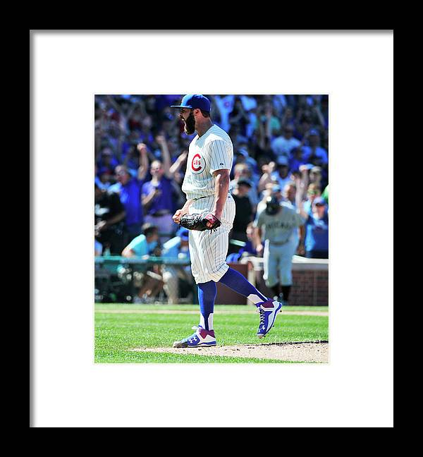 People Framed Print featuring the photograph Jake Arrieta by David Banks
