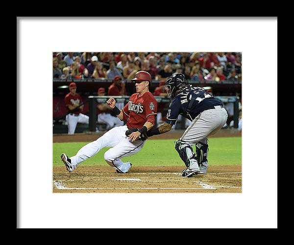 Second Inning Framed Print featuring the photograph Jake Lamb by Norm Hall