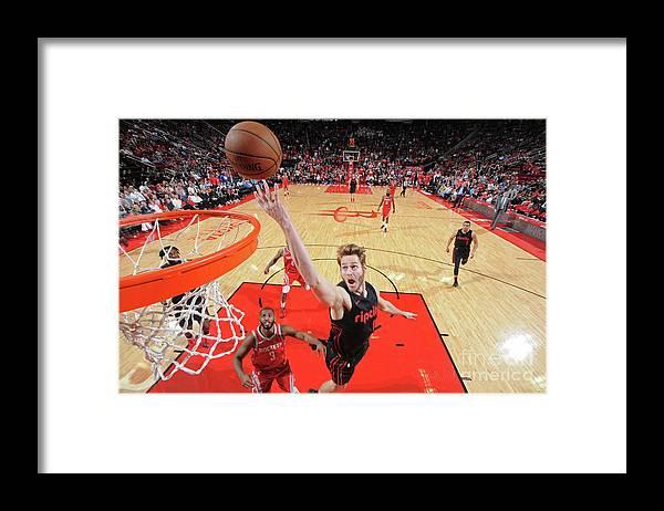 Nba Pro Basketball Framed Print featuring the photograph Jake Layman by Bill Baptist