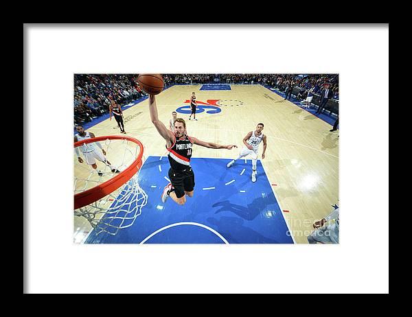 Nba Pro Basketball Framed Print featuring the photograph Jake Layman by Jesse D. Garrabrant