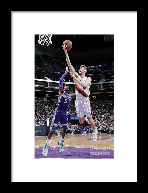 Nba Pro Basketball Framed Print featuring the photograph Jake Layman by Rocky Widner