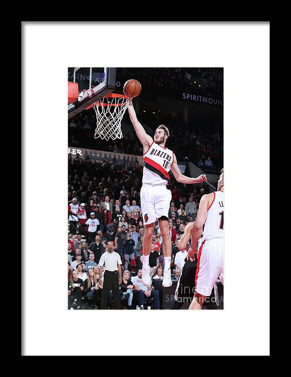 Nba Pro Basketball Framed Print featuring the photograph Jake Layman by Sam Forencich