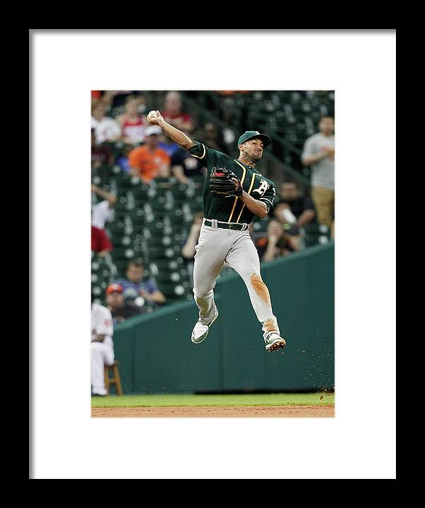 People Framed Print featuring the photograph Jake Marisnick and Marcus Semien by Bob Levey