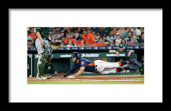 People Framed Print featuring the photograph Jake Marisnick by Bob Levey
