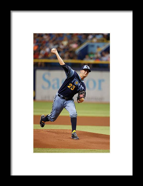American League Baseball Framed Print featuring the photograph Jake Odorizzi by Scott Iskowitz