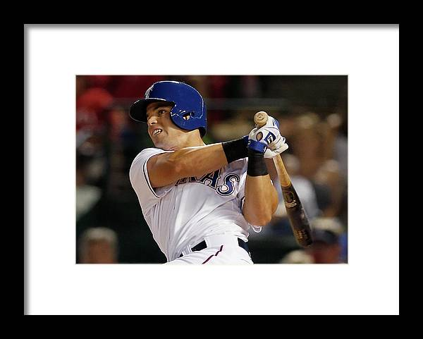 American League Baseball Framed Print featuring the photograph Jake Smolinski by Tom Pennington