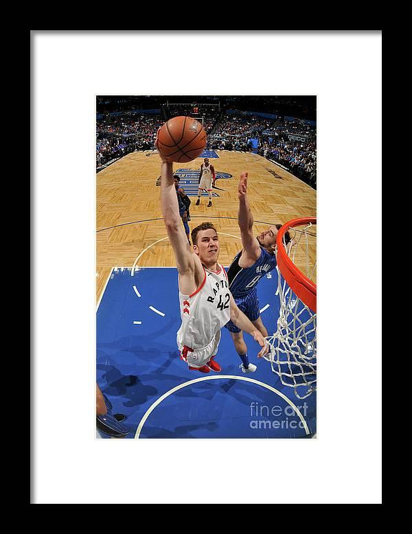 Nba Pro Basketball Framed Print featuring the photograph Jakob Poeltl by Fernando Medina