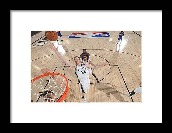 Nba Pro Basketball Framed Print featuring the photograph Jakob Poeltl by Garrett Ellwood